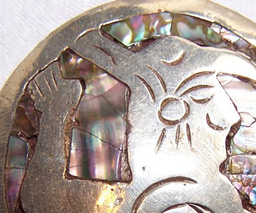 Weird Creature Brooch w/Abalone Inlay from Mexico Bizzare Creepy Vintage Mexican Designer Jewelry Gift