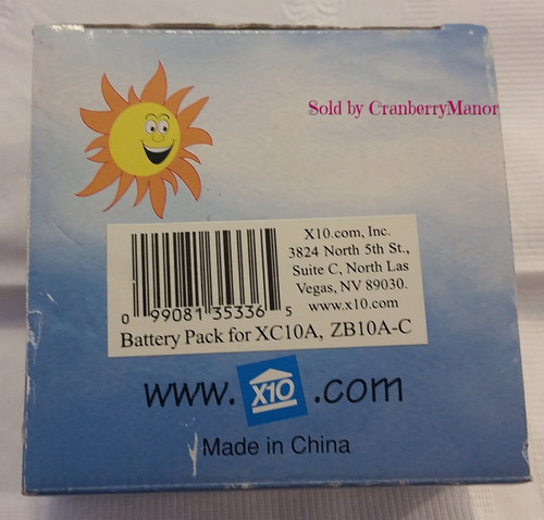 X10 XCam Battery Pack for XC10A - Model ZB10A-C