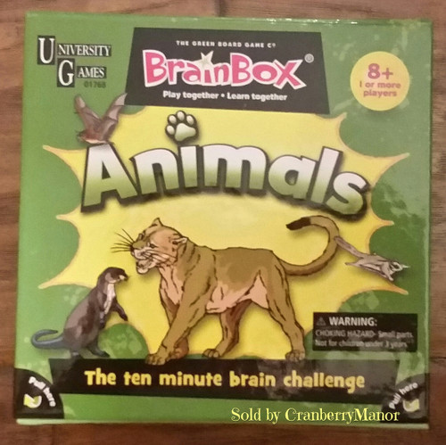 University Games Brainbox Discover Animals Educational Game - The 10 Minute Brain Challenge