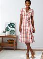 Butterick B6843 (Digital)   Misses' Shirtdresses & Sash