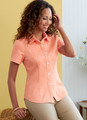 Butterick B6852 (Digital) | Misses' Button-Down Shorts With Collar, Sleeve & Hem Variations
