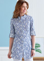 Butterick B6852 | Misses' Button-Down Shorts With Collar, Sleeve & Hem Variations