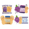 Jumbo Scented Stickers - Peanut Butter & Jelly