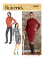 Butterick B6858 | Misses' Knit Dress, Tops, Skirt and Pants