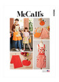 McCall's M8234   Children's and Misses' Aprons, Potholders and Tea Towel