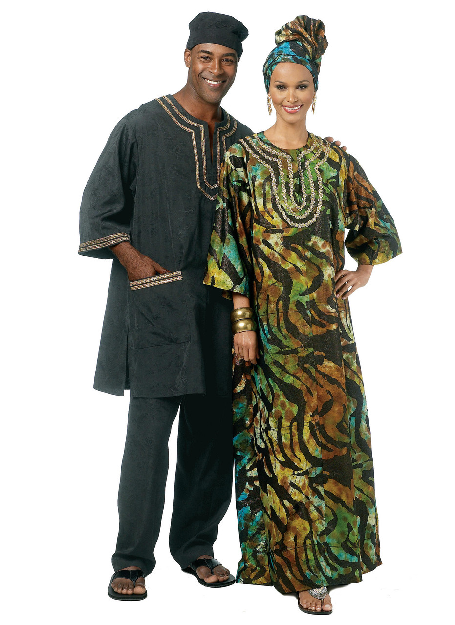 XLG-XXL-XXXL Pants BUTTERICK PATTERNS B5725 Misses//Mens Tunic Caftan Hat and Head Wrap Size XN