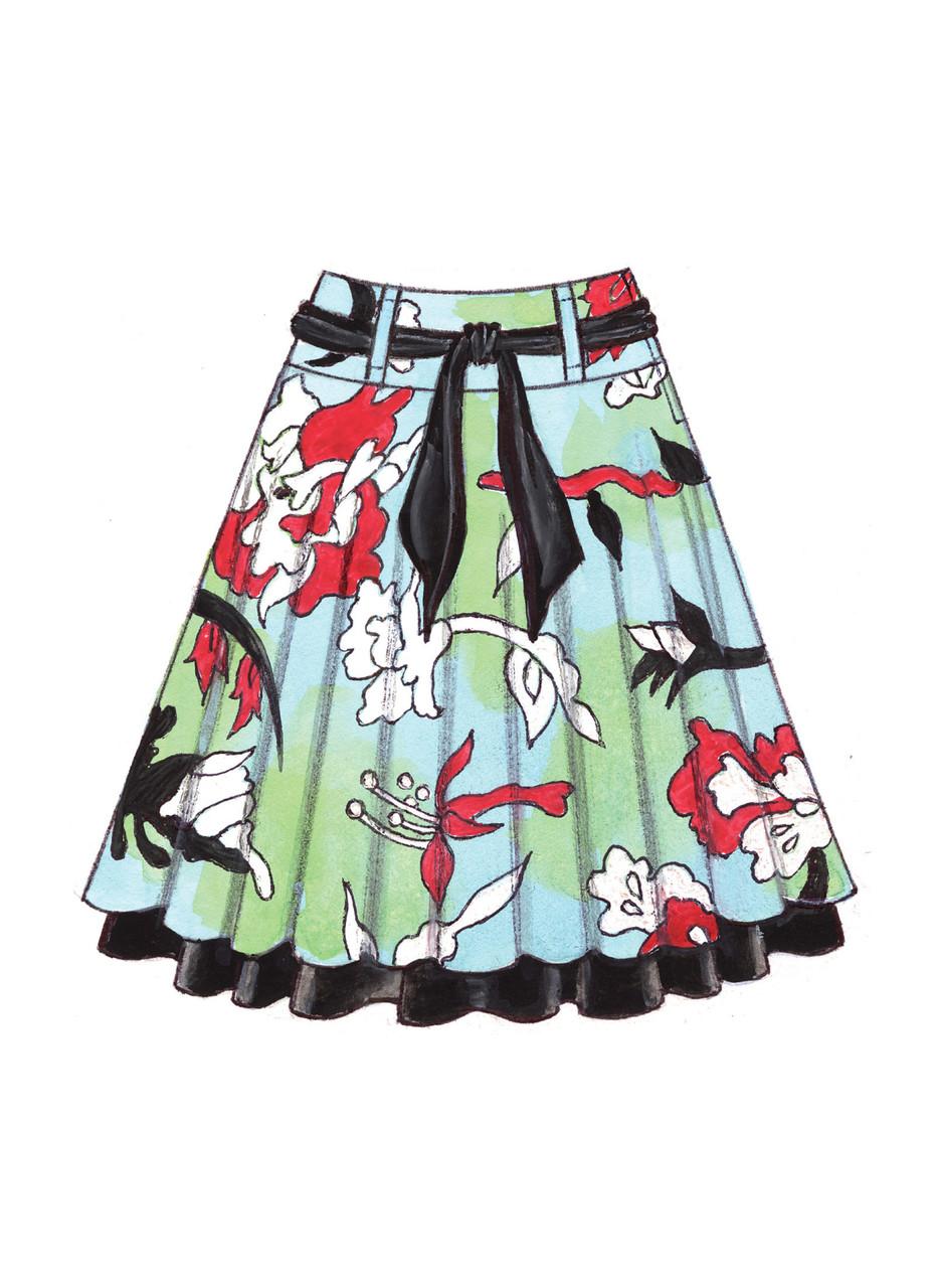 KwikSew-3637 Kwik Sew Ladies Sewing Pattern 3637 Circular Skirts /& Belt
