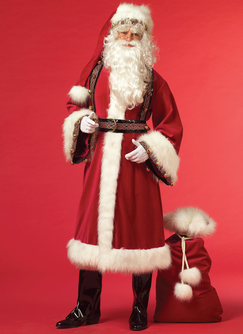 """Santa Claus Costume w//Beard /& Hat Fits 18/"""" American Girl Doll Clothes Mr"""