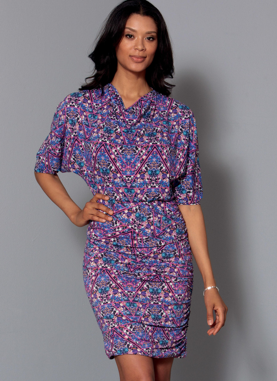 McCalls Patterns M7465E50 Misses Batwing Or Dolman Sleeve Dresses
