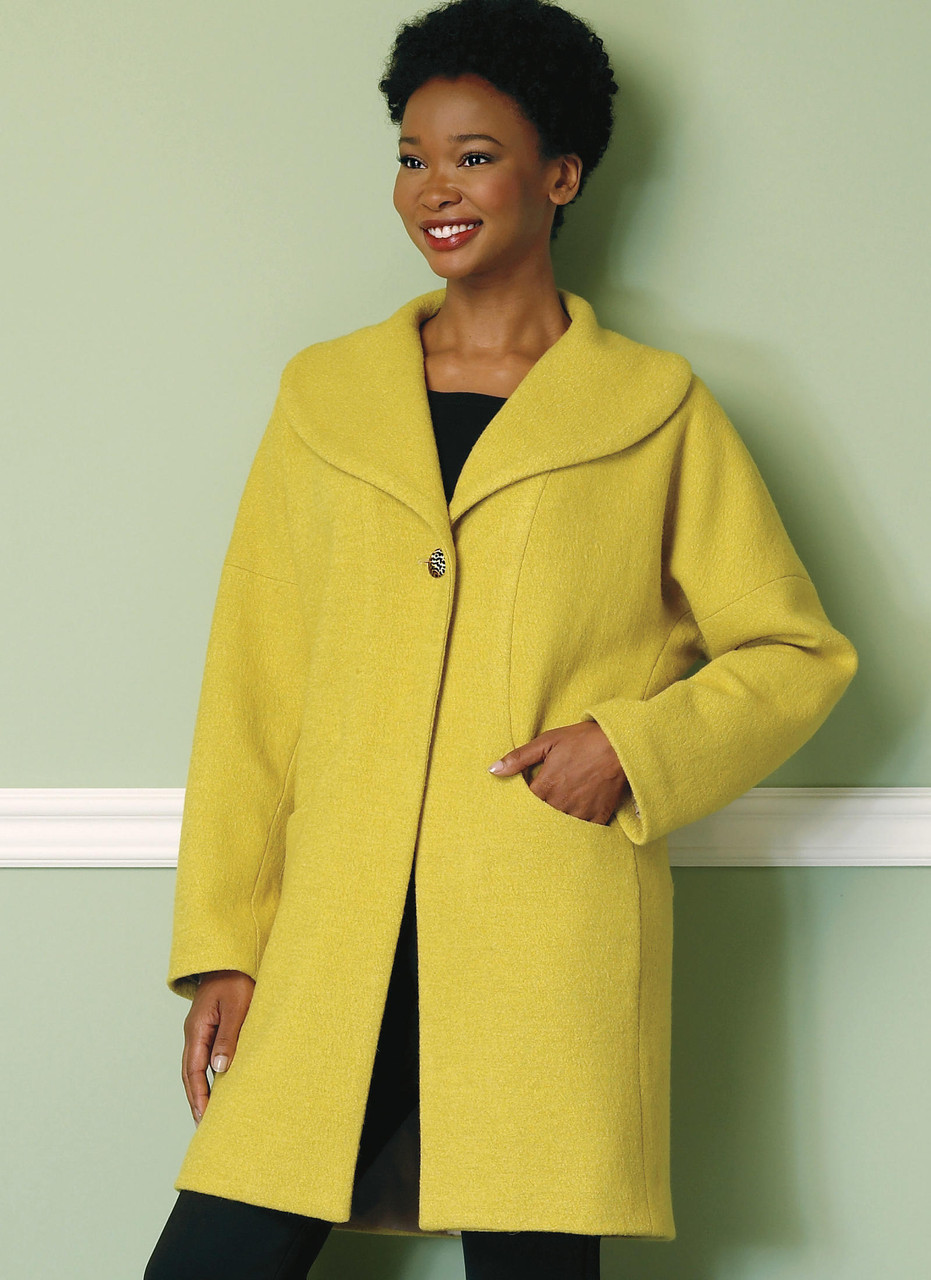 Butterick Sewing Pattern 6423 Misses/' Drop Shoulder Shawl Coat with Pockets