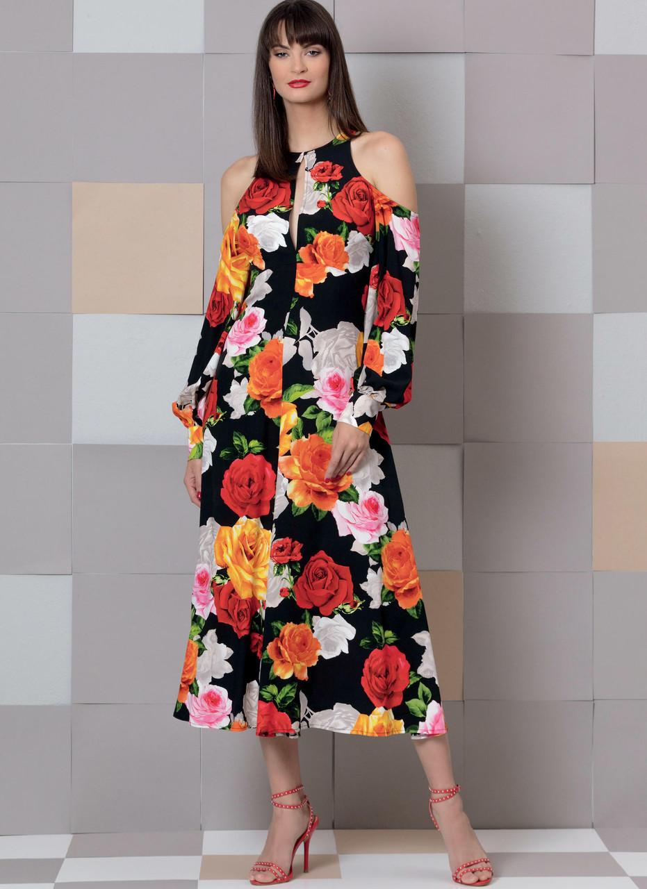 Vogue Sewing Pattern V9296 Women/'s Misses/' Cold Shoulder Dress