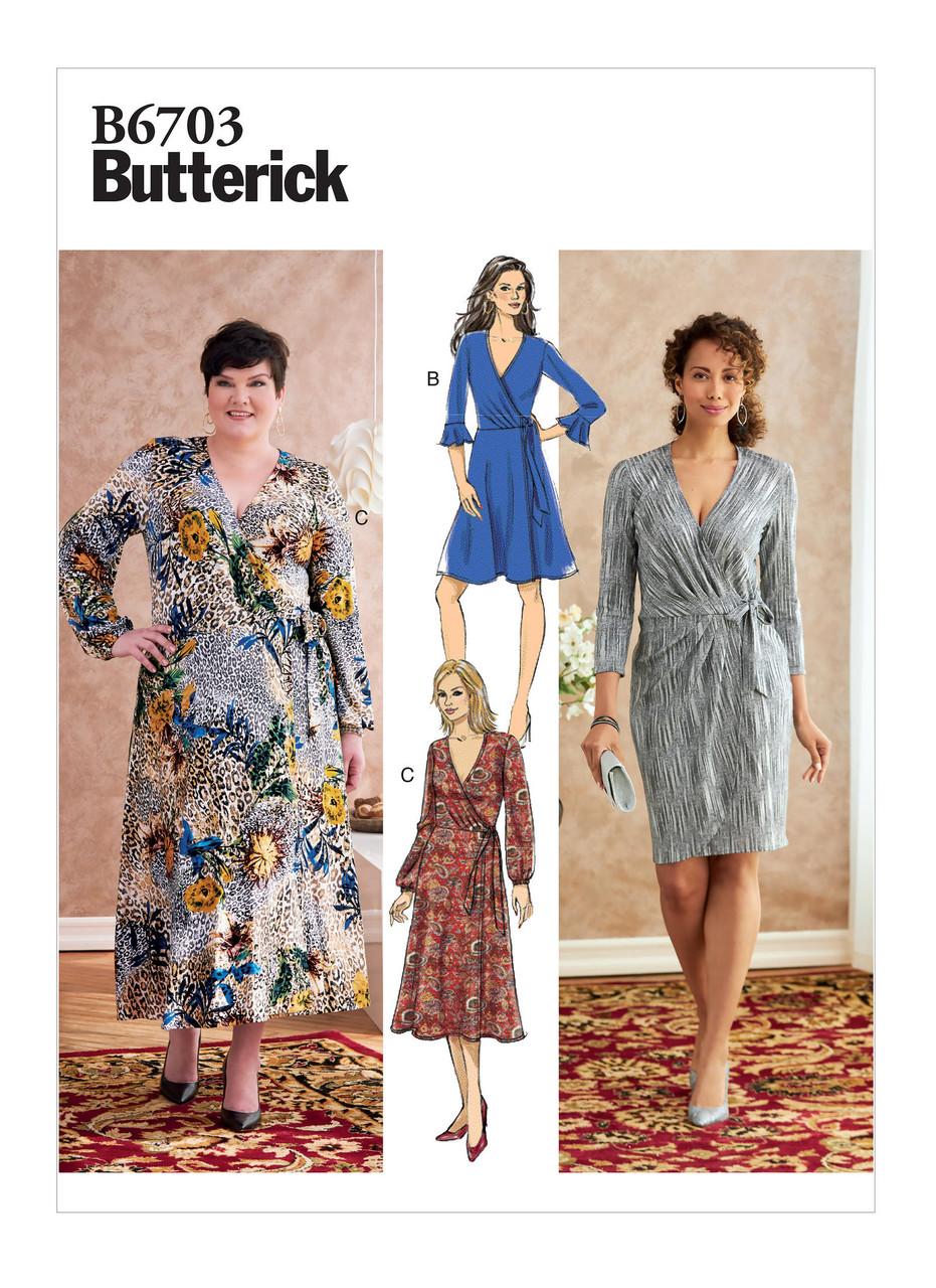 Pattern Roundup Knit Wrap Dresses Threads