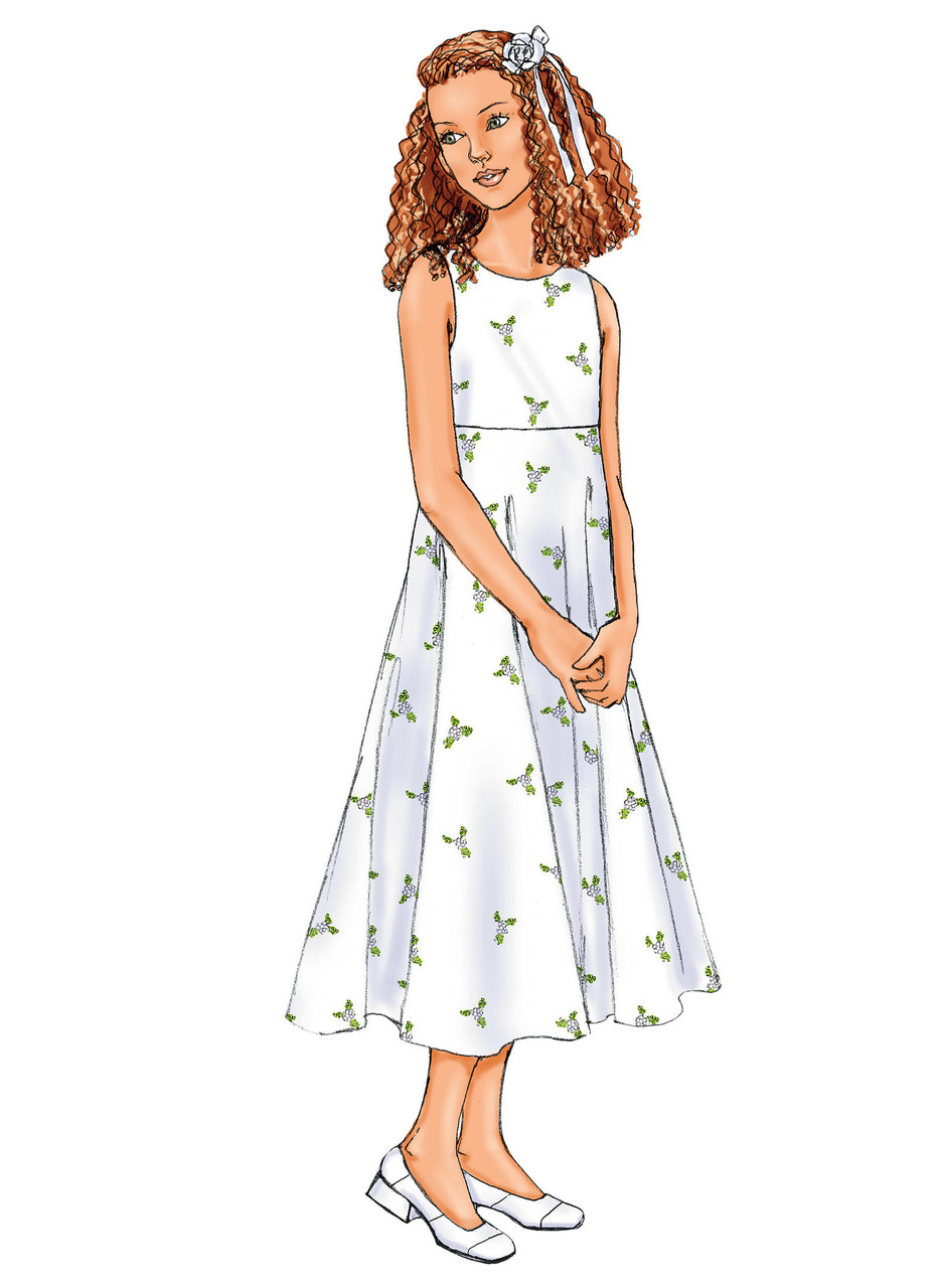 Butterick Patterns B3714 Girls/' Dress Size 12-14-16