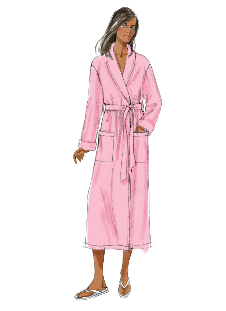 Butterick Patterns B5537 Misses//Mens Robe Shorts and Pants Belt Size XN Top XLG-XXL-XXXL
