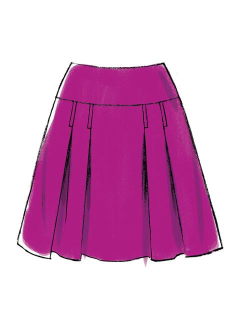 14-16-18-20-22 E5 McCalls Patterns M7022 Misses Skirts