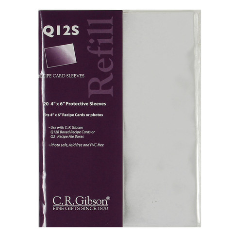 Q12S - 4 x 6 Recipe Card Sleeves