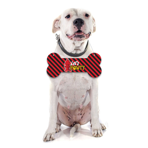 Molly and Bandit™ Pet Party - Large Bone Photo Prop - Fireman Collection