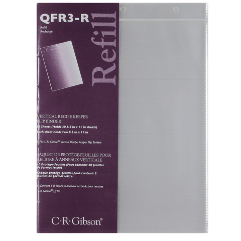 QFR3-R Refill for Recipe Keeper Flip Stand (Vertical)