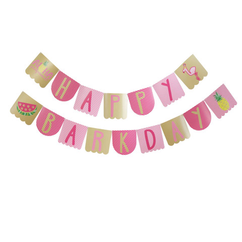 Molly and Bandit™ Pet Party - Dog Birthday Banner - Tropical Collection