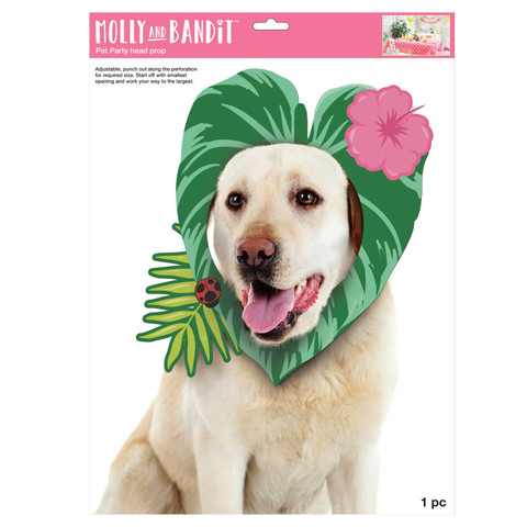 Molly and Bandit™ Pet Party - Head Photo Prop - Tropical Collection