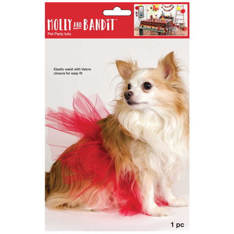 Molly and Bandit™ Pet Party - Red Tulle Tutu for Dogs - Fireman Collection
