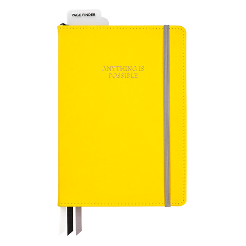 Bulleting Log Journal, 6 x 8 - Yellow Anything is Possible