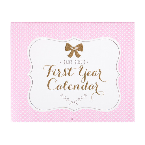 Baby's First Year Calendar - Sweet Sparkle