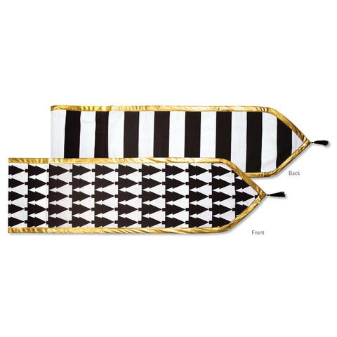 """60"""" Table Runner - Trees/Stripes (Reversible)"""