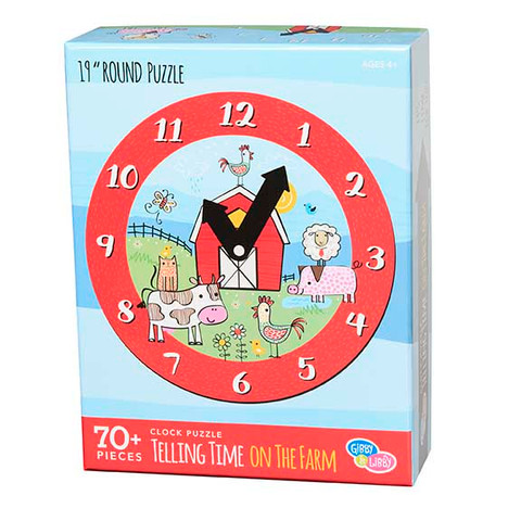 Clock Puzzle - Telling Time on the Farm