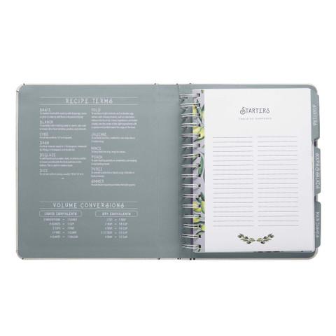 Mini Recipe Notebook - Olive