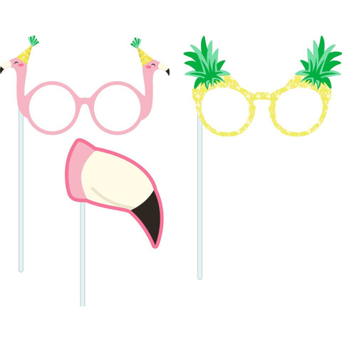 Molly and Bandit™ Pet Party - Flamingo Photo Props - Tropical Collection, 3 Pack