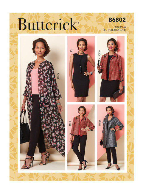 Butterick B6802 | Misses' Jacket, Dress & Pants