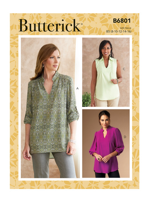 Butterick B6801 | Misses' & Women's Tucked Or Gathered Top