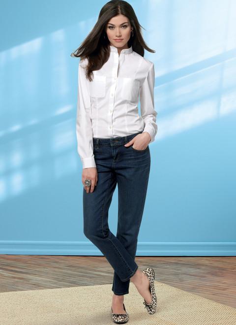 Butterick B6800 | Misses' Four-Pocket Jeans & Trousers
