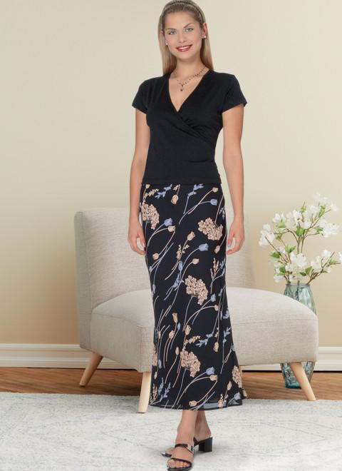 Butterick B6799 (Digital)   Misses' & Misses' Petite Bias A-Line Skirt