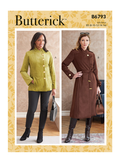 Butterick B6793 | Misses' Jacket, Coat & Belt