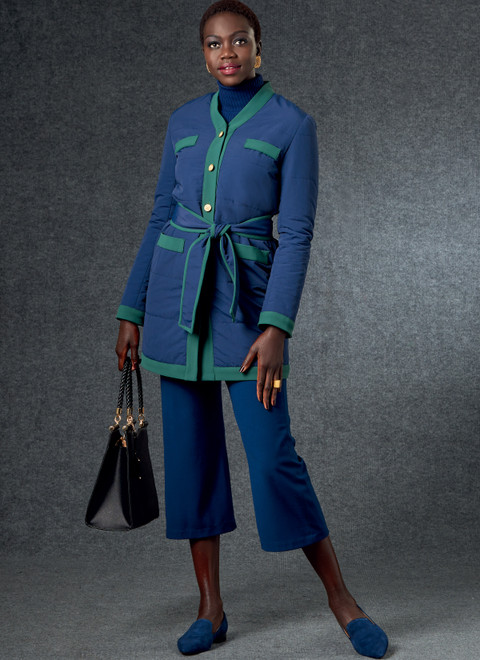 Vogue Patterns V1757 | Misses' Jacket, Belt, Skirt & Pants