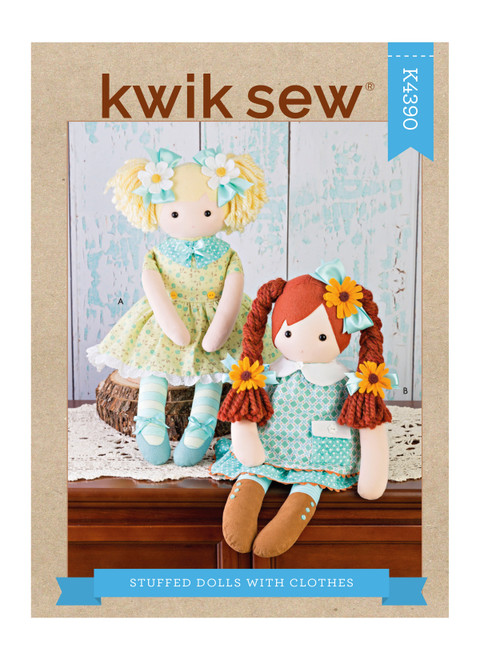 Kwik Sew K4390 | Stuffed Dolls With Clothes