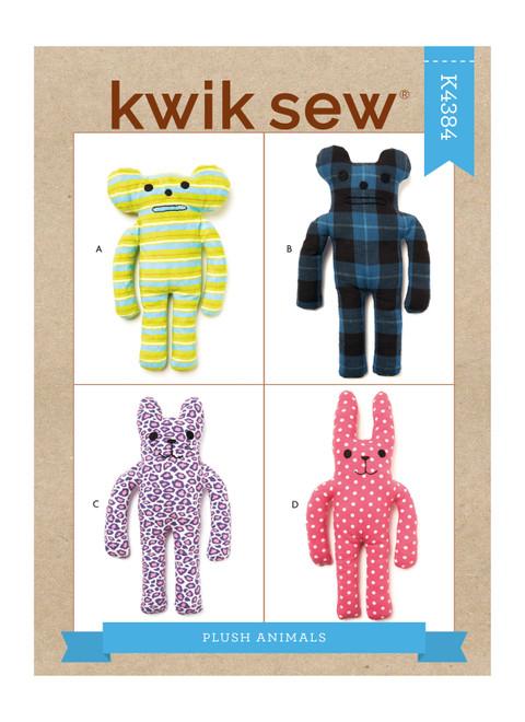 Kwik Sew K4384 | Plush Animals