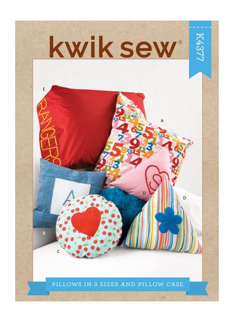 Kwik Sew K4377 | Pillows In 3 Sizes & Pillow Case