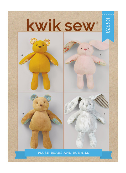 Kwik Sew K4373   Plush Bears & Bunnies