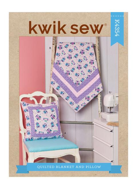 Kwik Sew K4354   Quilted Blanket & Pillow