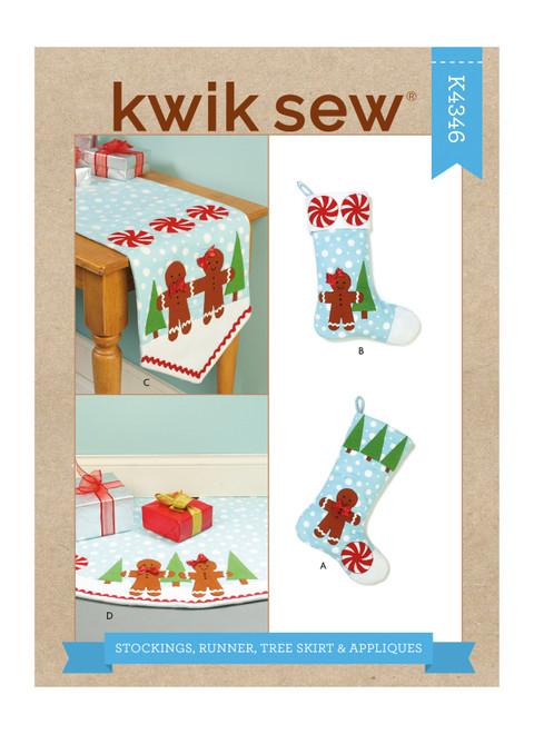 Kwik Sew K4346   Stockings, Runner, Tree Skirt & Appliques