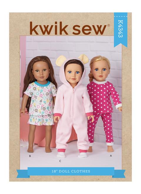 "Kwik Sew K4343 | 18"" Doll Clothes"
