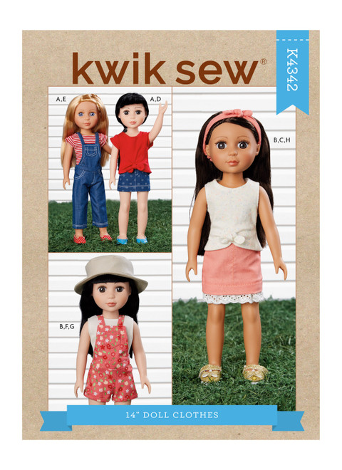 "Kwik Sew K4342 | 14"" Doll Clothes"