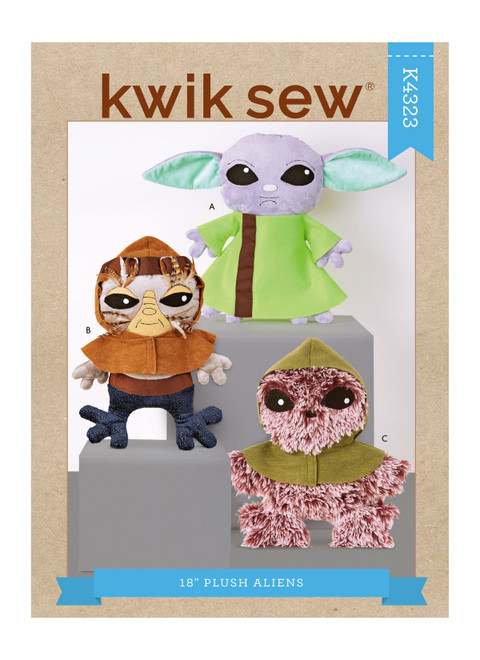 "Kwik Sew K4323 | 18"" Plush Aliens"