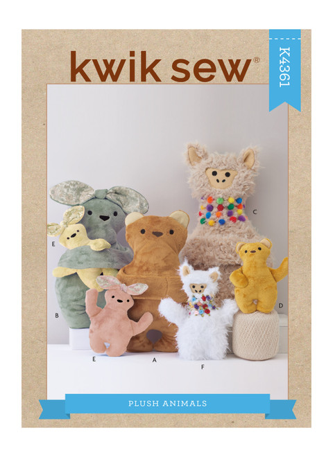 Kwik Sew K4361   Plush Animals