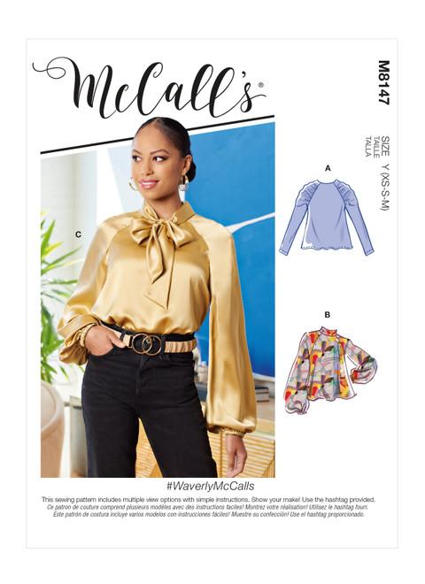 McCall's M8147 | #WaverlyMcCalls - Misses' Tops