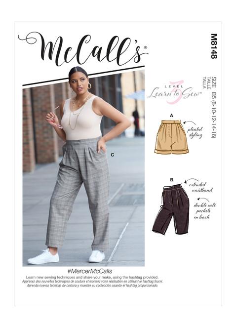 McCall's M8148 (Digital) | Misses' & Women's Pants