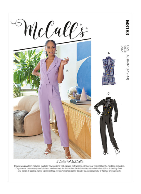McCall's M8183 | #ValerieMcCalls - Misses' Jumpsuits